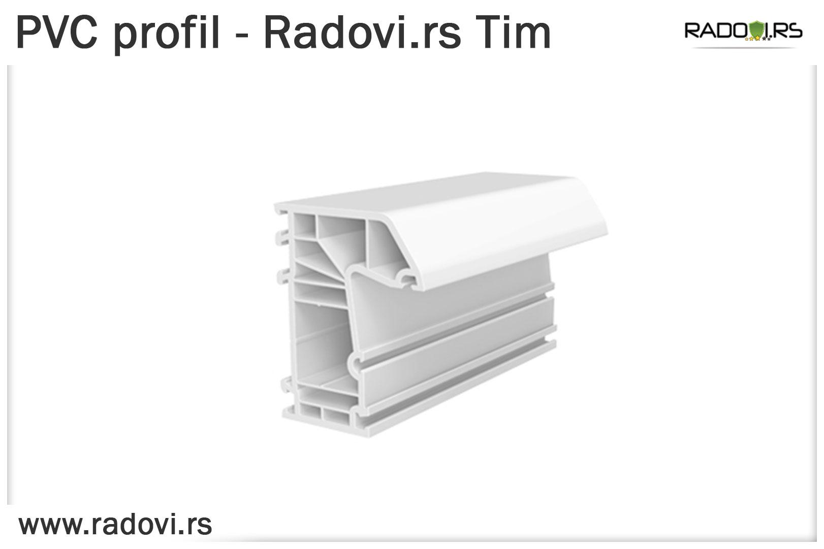 PVC profil - PVC stolarija Tim - Radovi.rs