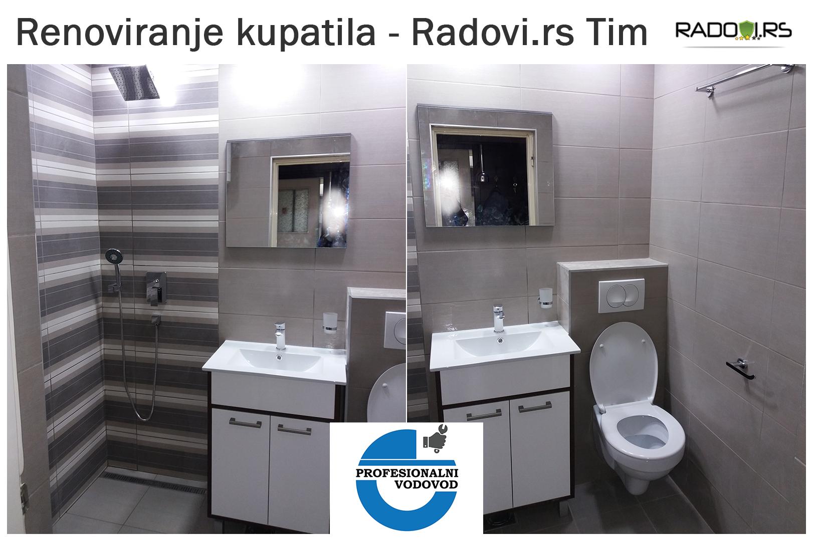 Renoviranje kupatila- posle - Radovi.rs Tim