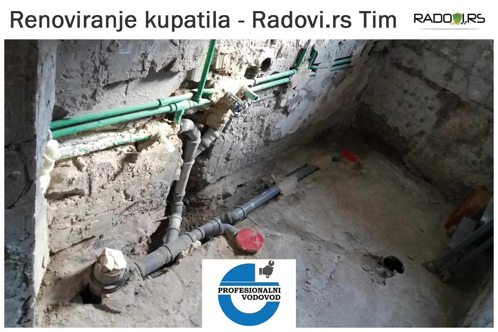 Renoviranje kupatila - pre i tokom radova - Radovi.rs Tim