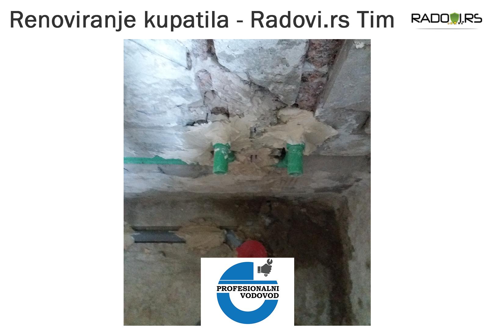 Renoviranje kupatila - tokom radova - Radovi.rs Tim