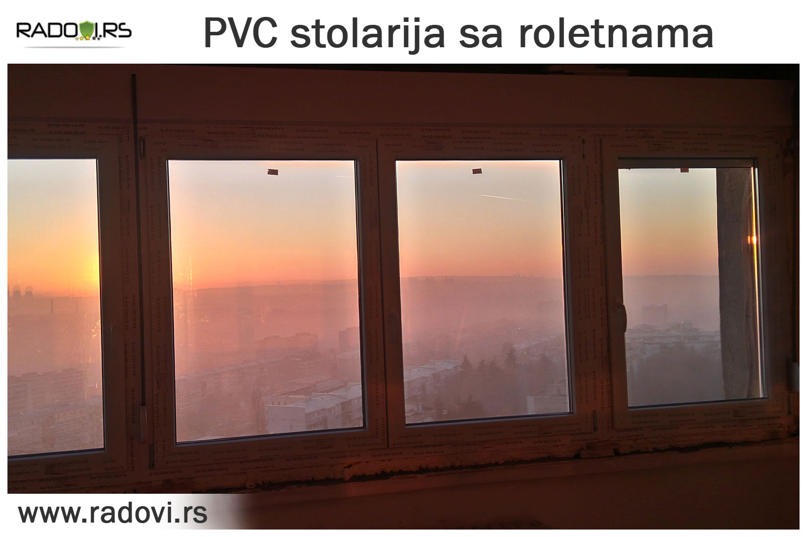 PVC stolarija sa roletnama - PVC stolarija Tim - Radovi.rs