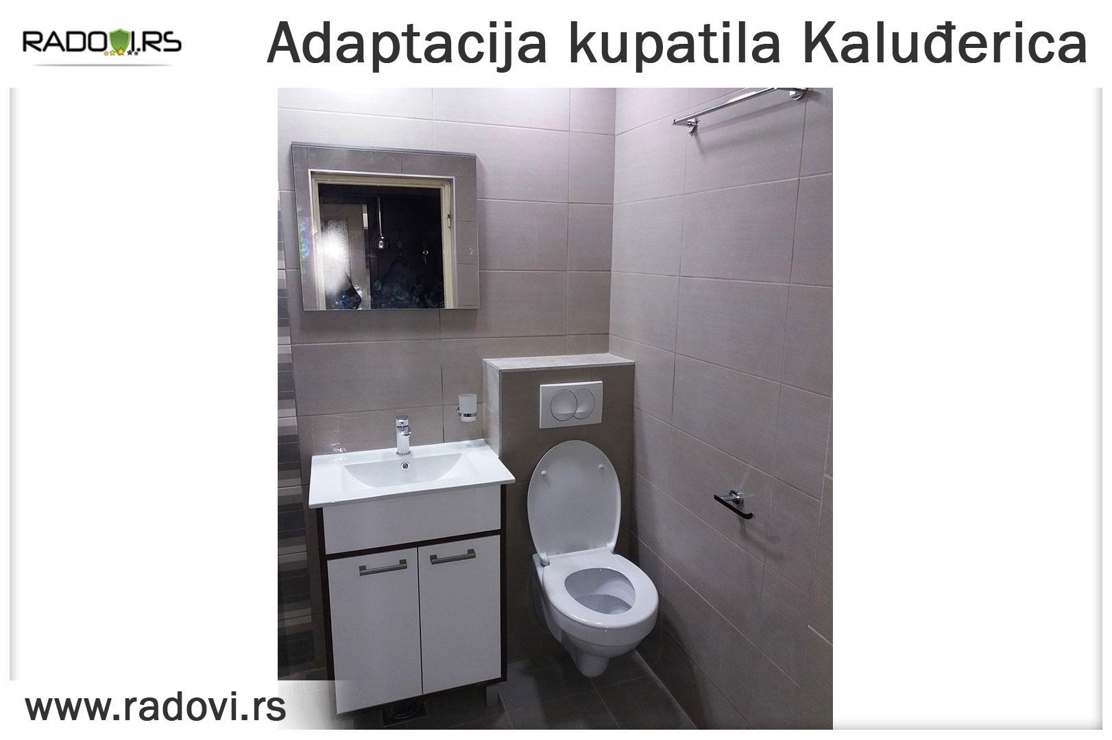 Adaptacija kupatila Kaluđerica - Vodoinstalater Beograd Tim