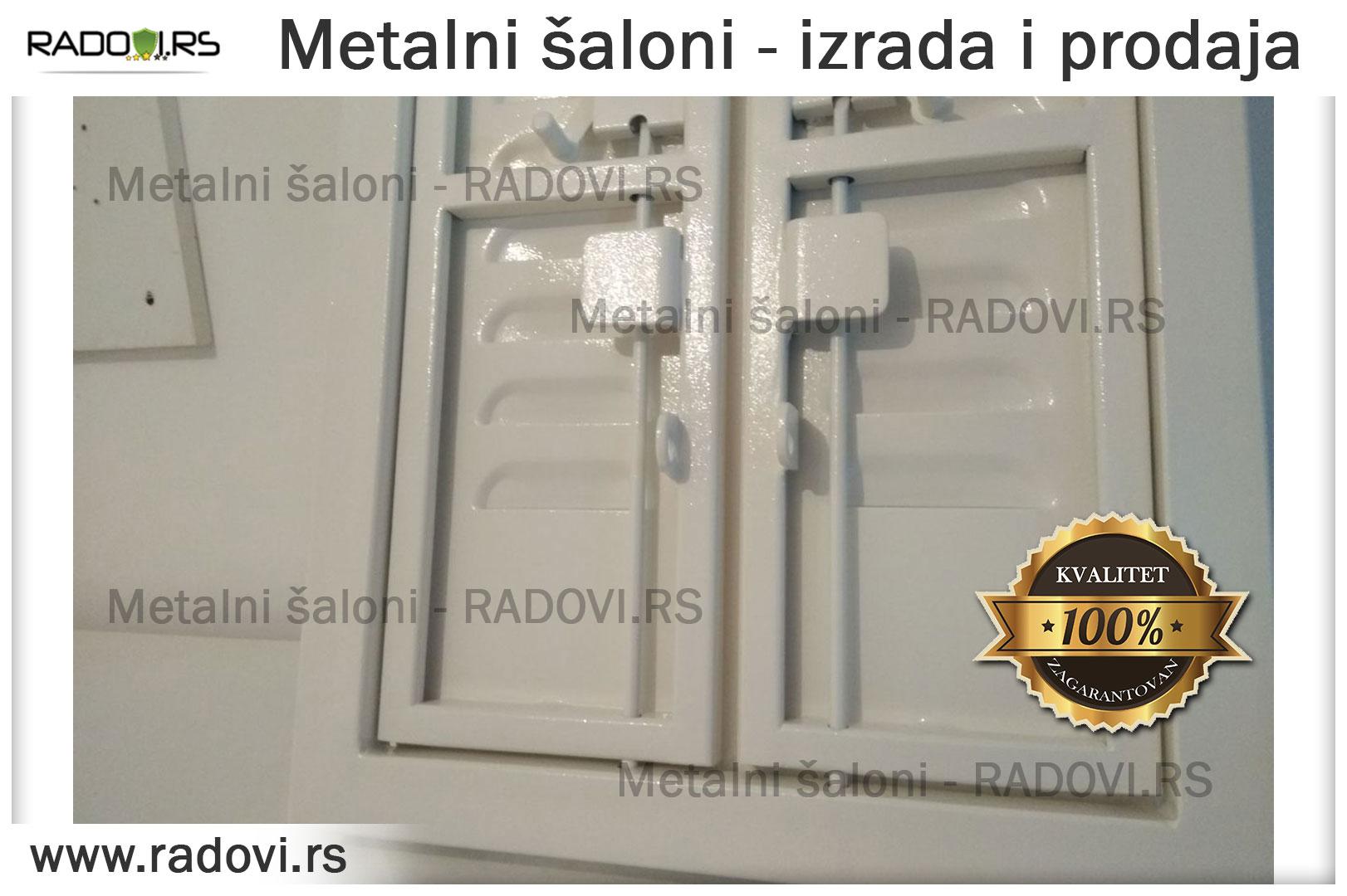 Metalni šaloni - izrada, prodaja i ugradnja - Bravar - Radovi.rs