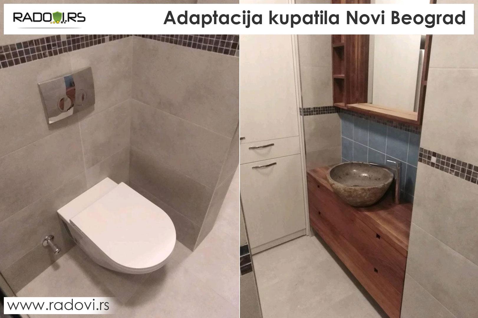 Adaptacija kupatila Novi Beograd - Radovi.rs